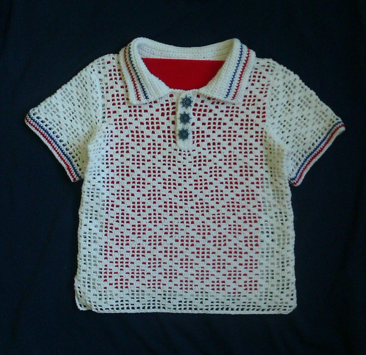 Вязание крючком рубашки мальчикам