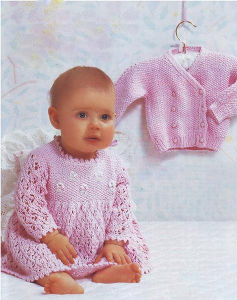Вязание детских кофточек до 1 года