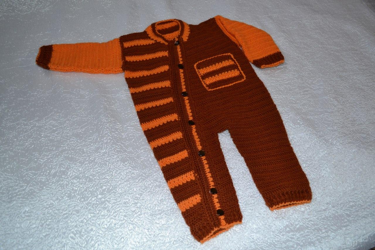 Мастер-класс вязания комбинезона для новорожденного