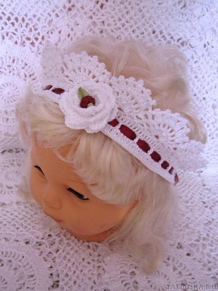 На фото: повязка на голову